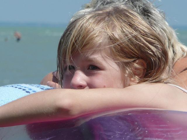 Swim girl hair, people.