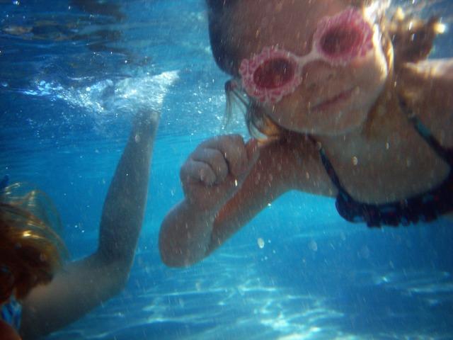Swim play pink, people.