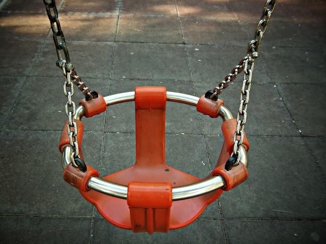 Swing childhood park.