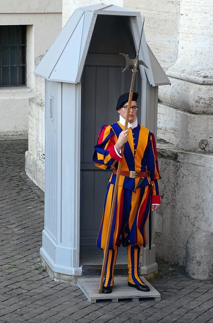 Swiss guard rome italy.