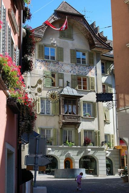 Switzerland bremgarten old town, travel vacation.