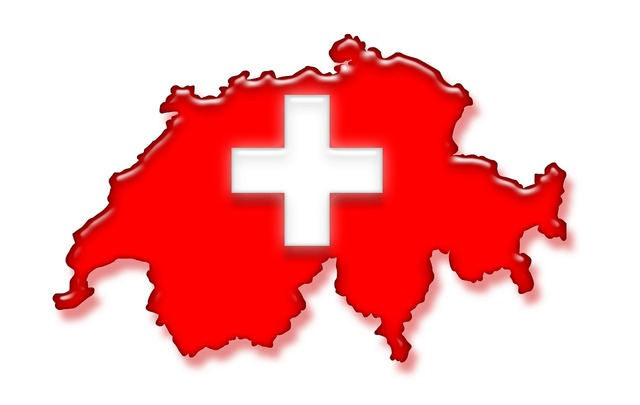 Switzerland flag national colours.