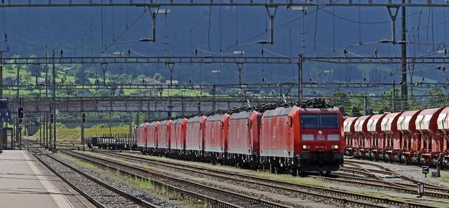 Switzerland gotthard train station in erstfeld.