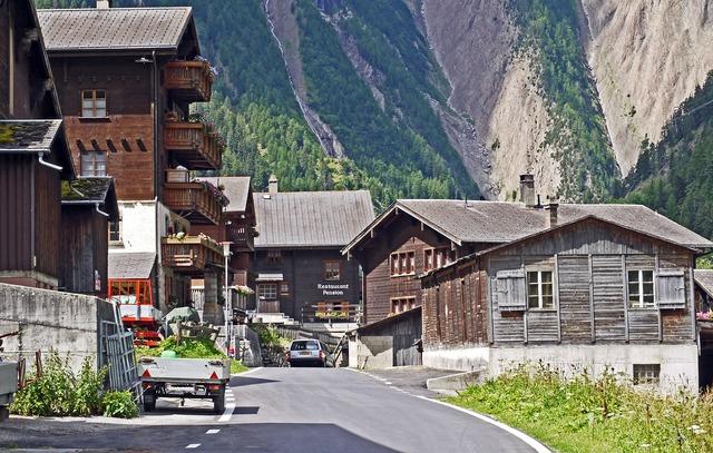 Switzerland valais bergdorf.