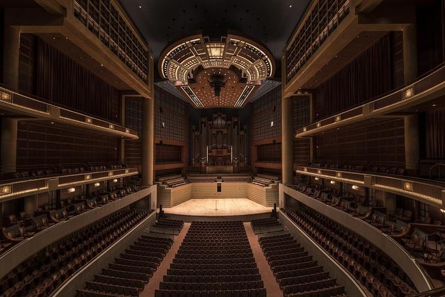 Symphony hall auditorium concert, music.