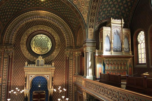 Synagogue prague czech, architecture buildings.