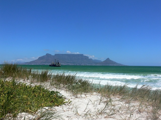 Table mountain cape town sand, travel vacation.