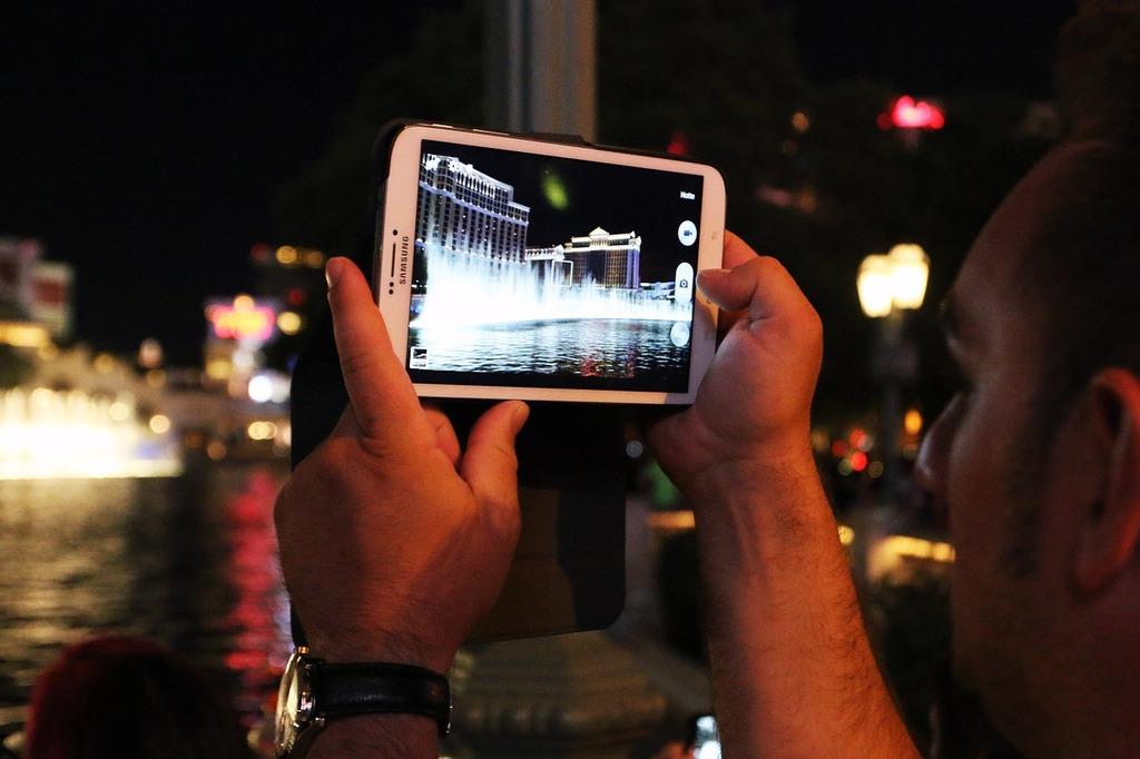 Tablet las vegas usa, computer communication.