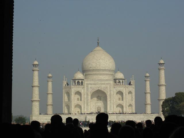 Taj mahal marble monument, architecture buildings.