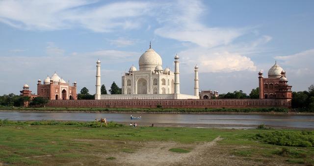 Taj mahal mausoleum marble, architecture buildings.