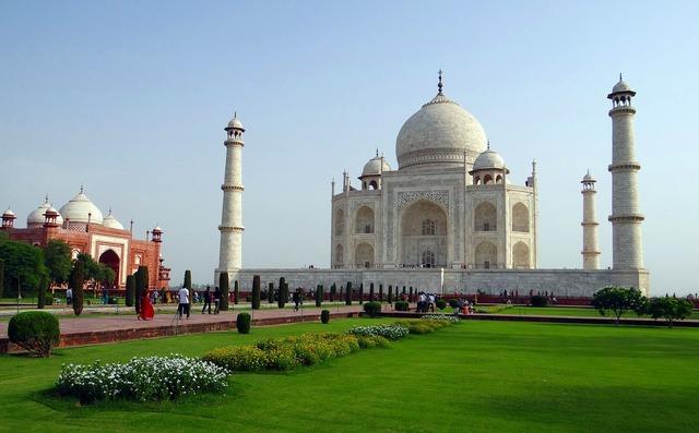 Taj mahal unesco site world wonder, architecture buildings.