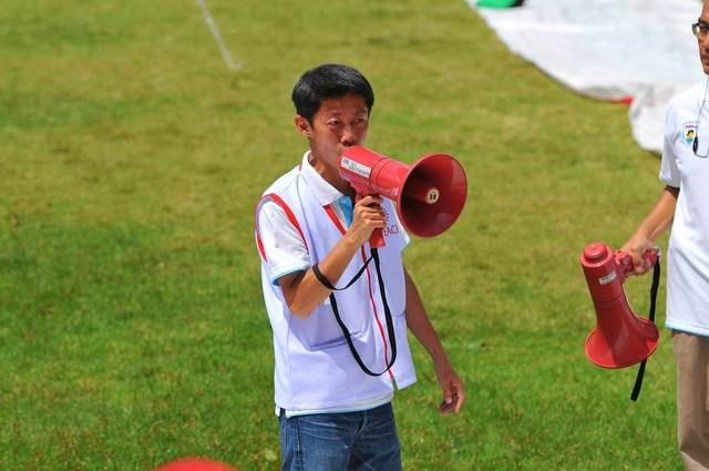 Talk shout megaphone, people.