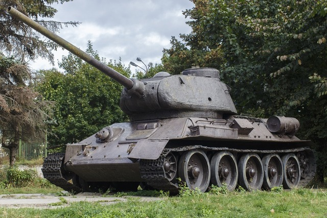 Tank old t-34.