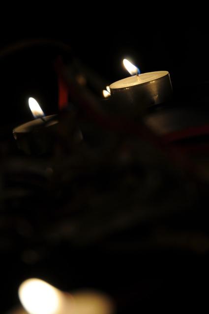 Tealight candlelight dark.
