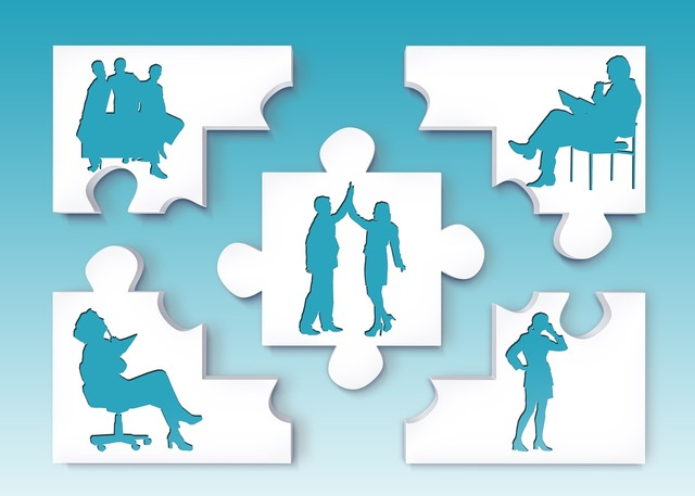 Team silhouettes personal, business finance.
