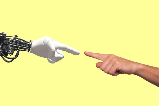 Technology robot human, science technology.