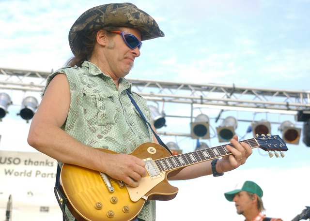 Ted nugent concert performance.