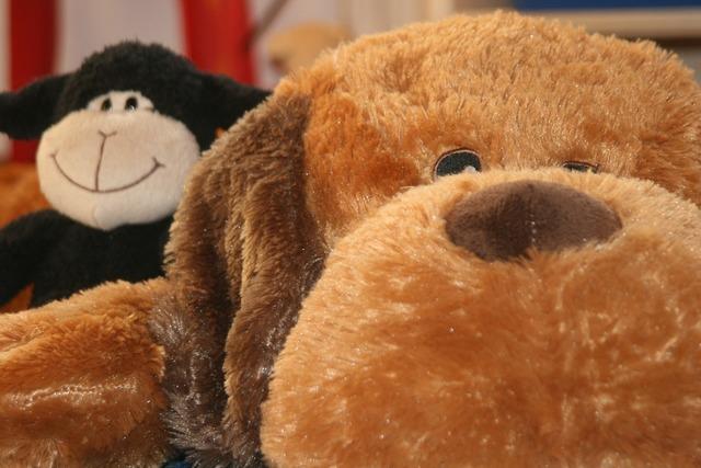 Teddy dog stuffed animal, animals.