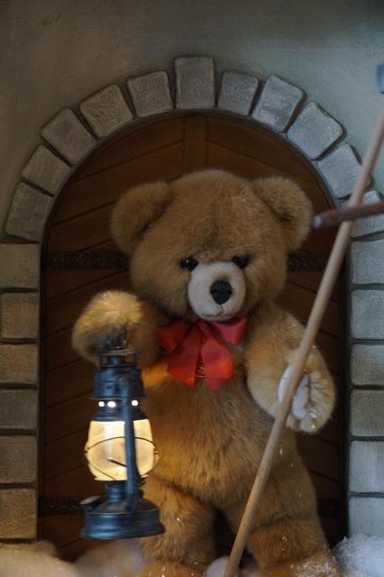 Teddy lamp guard, people.