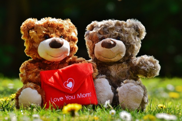 Teddy mother's day love, emotions.
