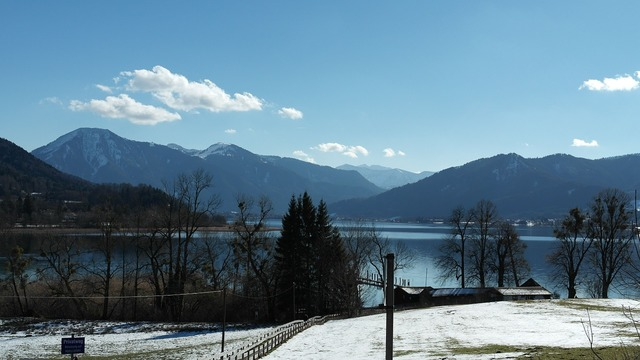 Tegernsee community place, nature landscapes.