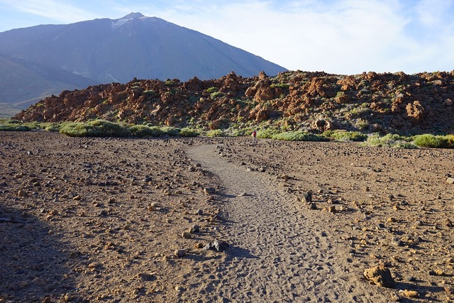 Teide away path, nature landscapes.