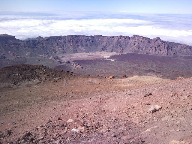 Teide volcano crater.
