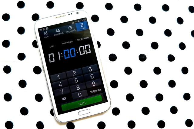 Telephone mobile clock.