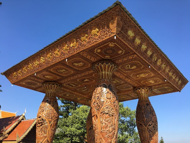 Temple buddhism pagoda, religion.