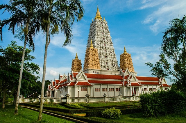 Temple buddhism thailand, religion.