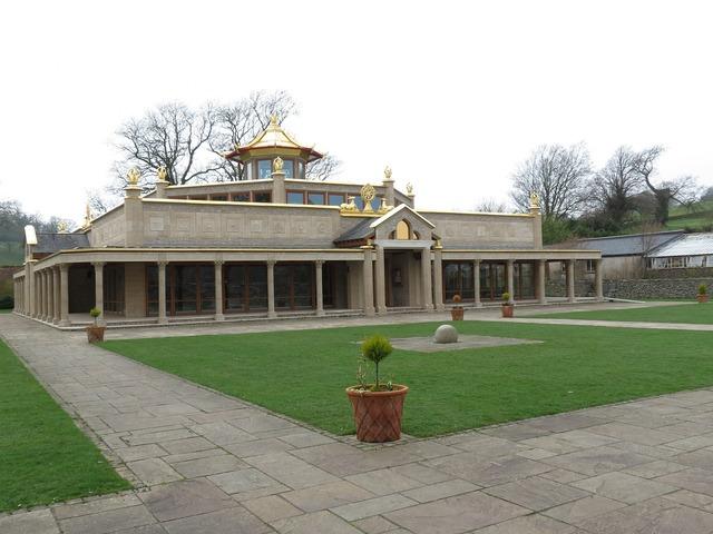 Temple buddhist building, religion.