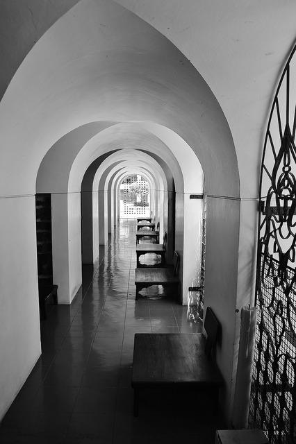 Temple corridor architecture, religion.