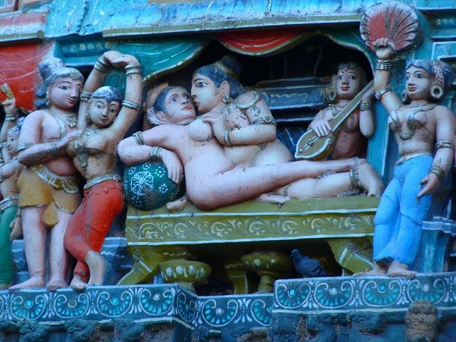 Temple figures temple colorful, religion.