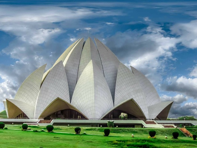 Temple lotus temple architecture, religion.
