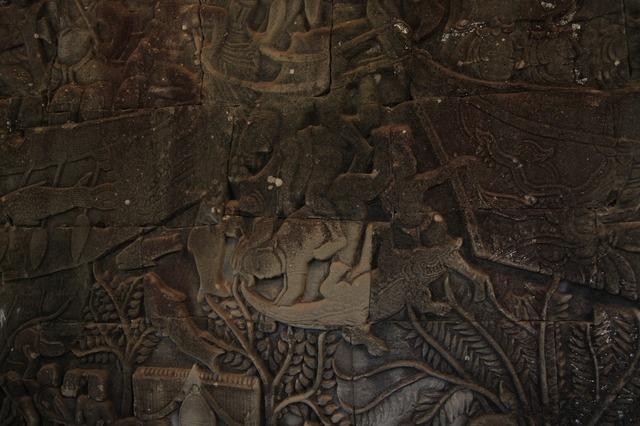 Temple mural cambodia, religion.