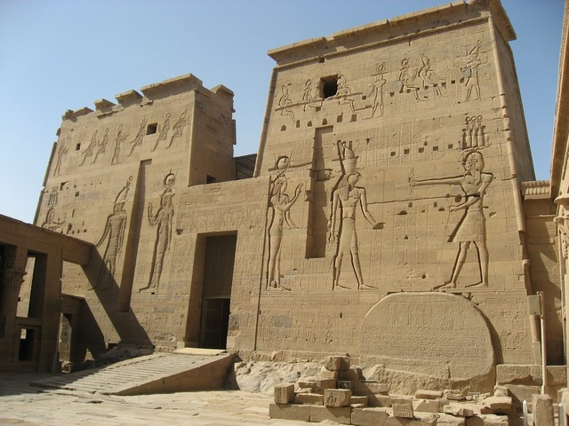 Temple of isis philae island egypt, religion.