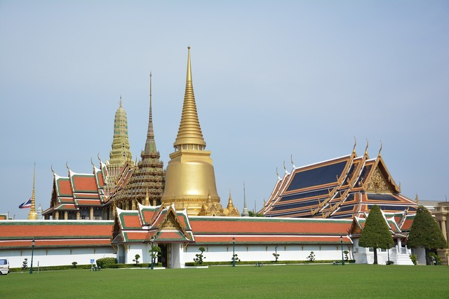 Temple of the emerald buddha tourist attraction palace.