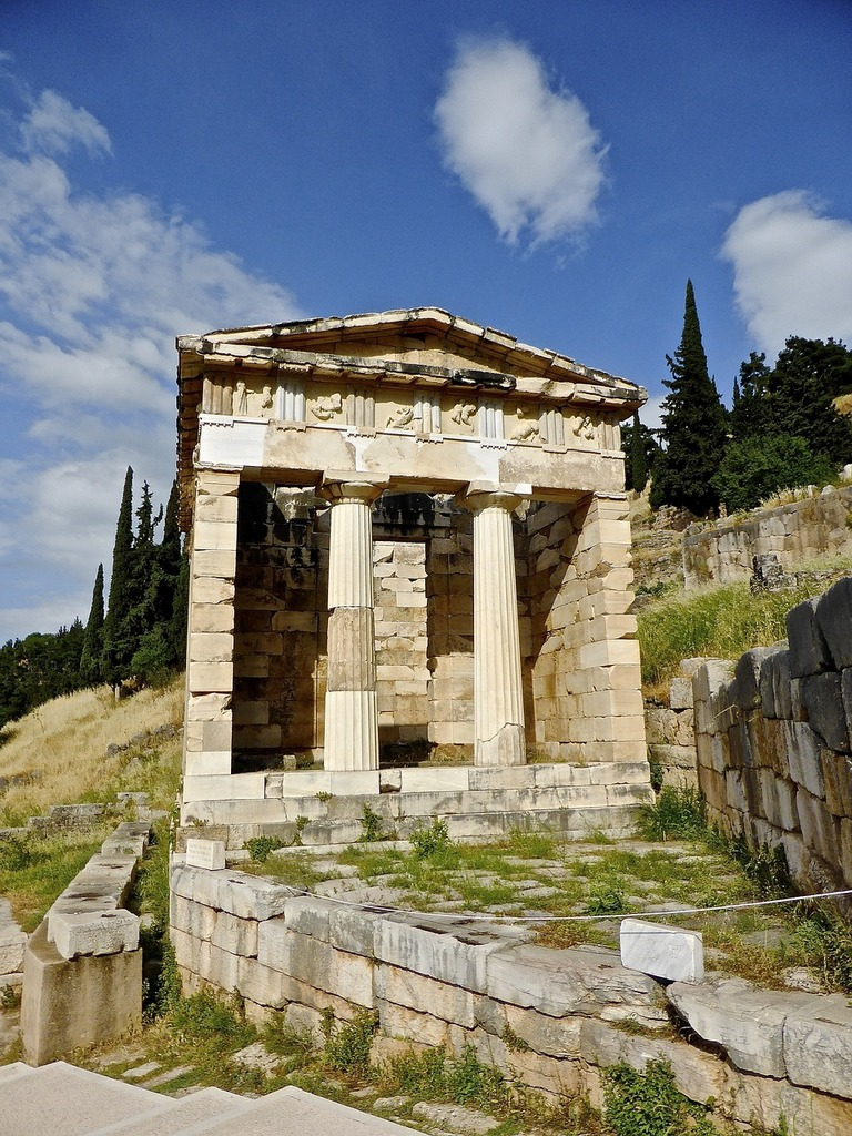 Temple ruins columns, religion.