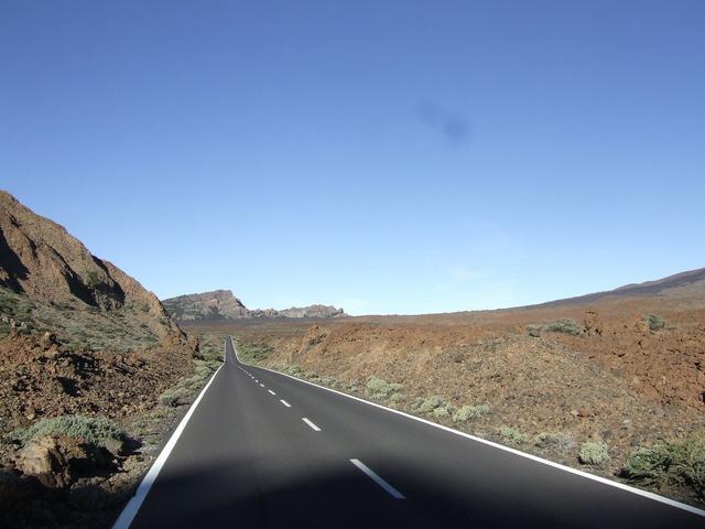 Tenerife road just, transportation traffic.