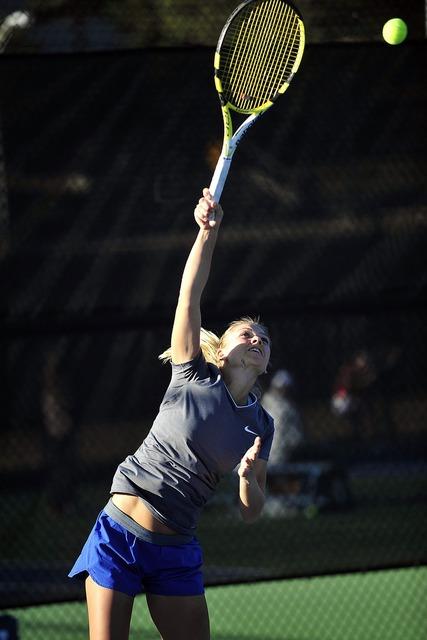 Tennis player woman racket, beauty fashion.