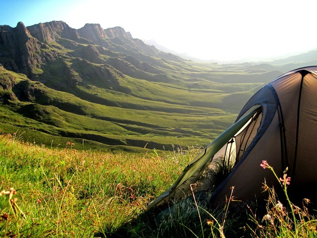 Tent mountains sani pass, travel vacation.