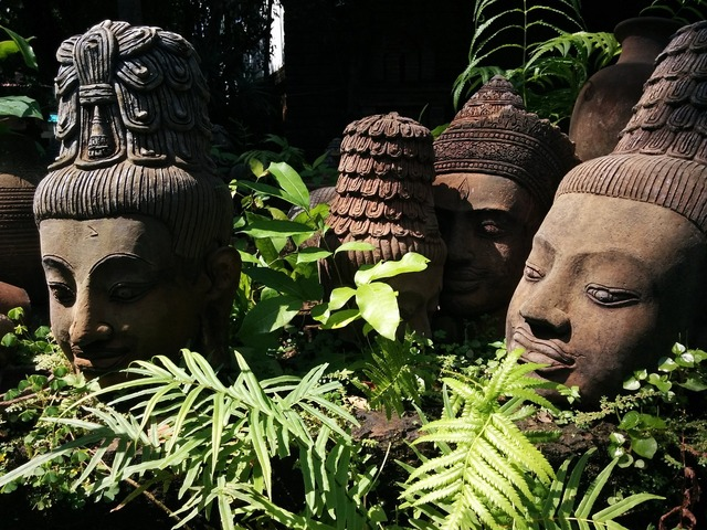 Terracotta thailand statue.