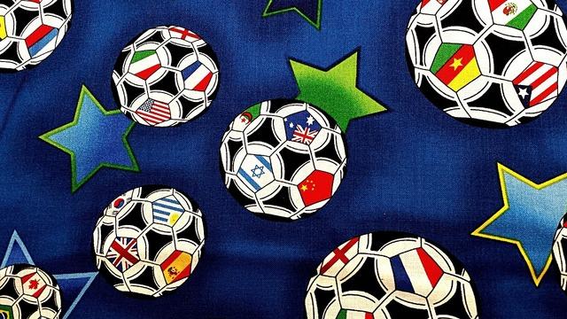 Textile football soccer, sports.