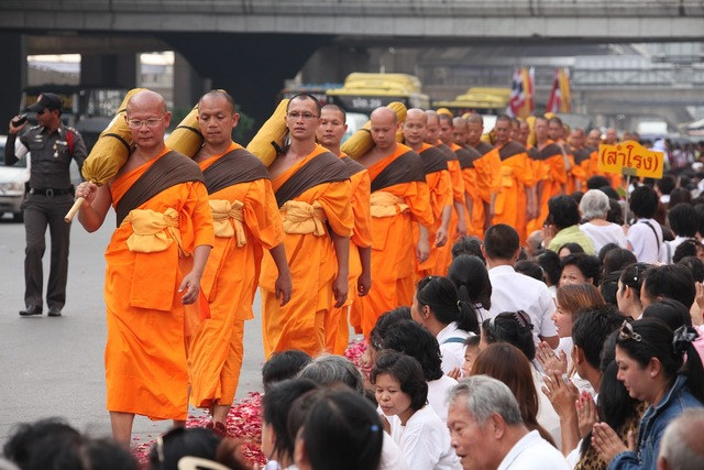 Thailand buddhists monks, religion.