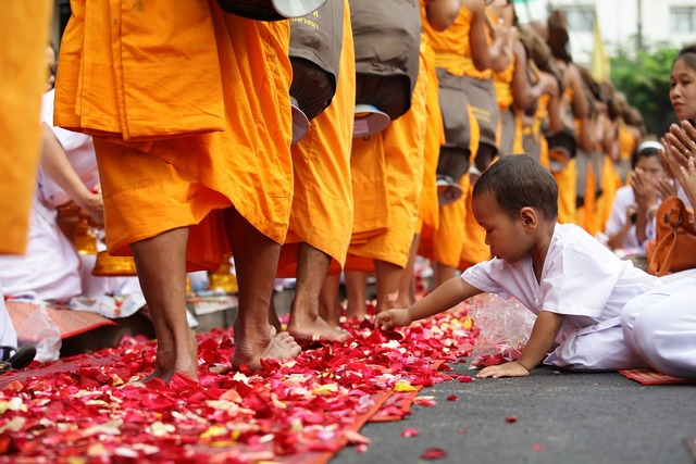 Thailand child buddhists, people.