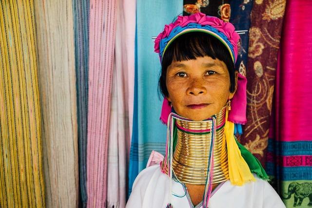Thailand longneck woman, beauty fashion.