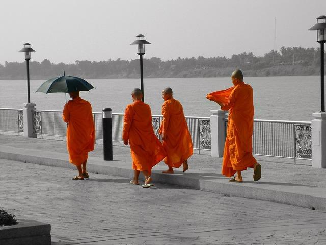 Thailand monk buddhism, religion.