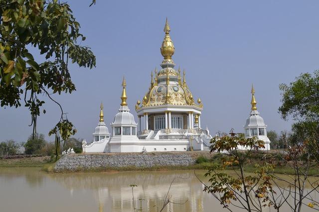 Thailand temple buddhism, religion.