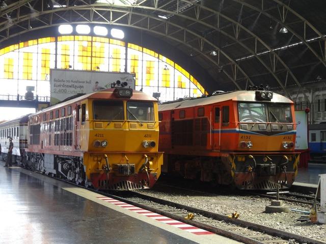 Thailand train station.