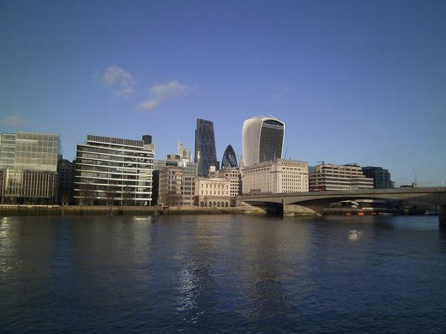 Thames london great britain.